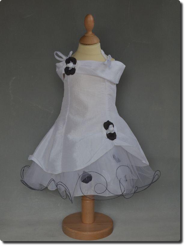 Robe de ceremonie fille noir et blanche