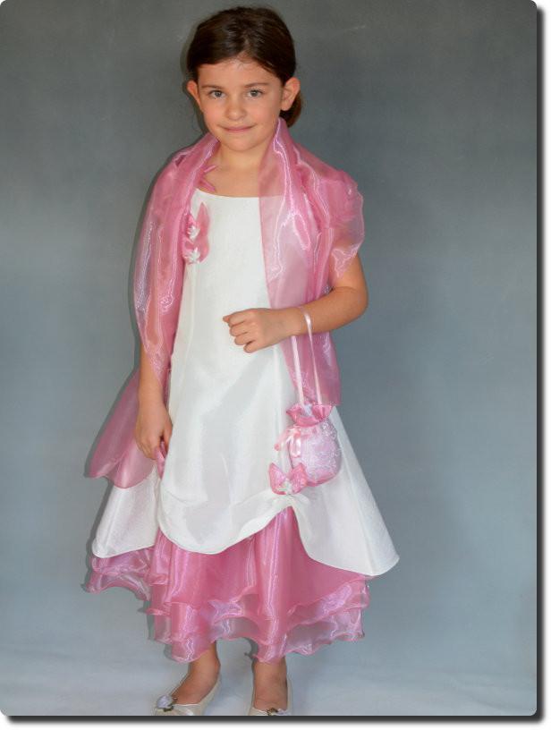 Robe de ceremonie rose fille