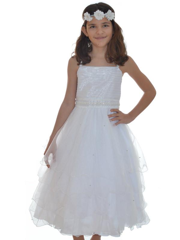 Robe blanc ceremonie fille 10 ans