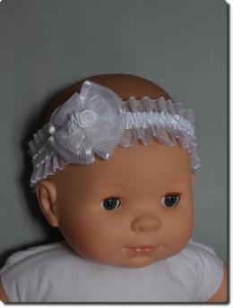 Bandeau blanc bébé pour cérémonie bébé