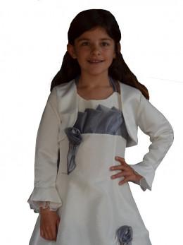 Boléro ivoire cortège fille FANNY, boléro enfants pour cérémonies