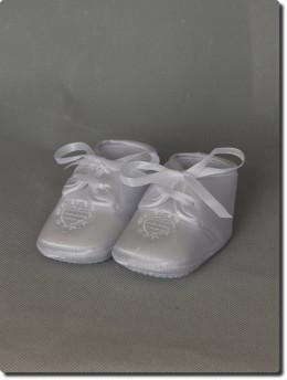 hausson blanc souple pour bapteme bébé