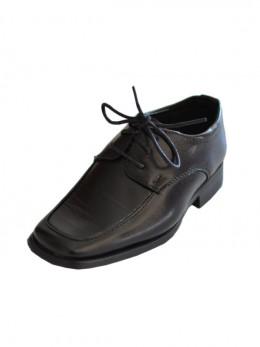 Chaussures de cérémonie noir garçon THIBAUT