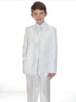 461539fb4e1 Costume enfant de cérémonie blanc 5 pièces ARNAUD