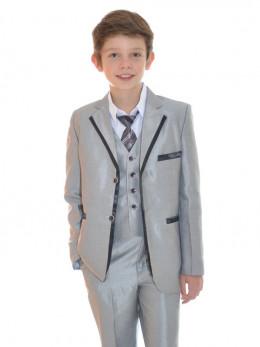 Costume de cérémonie garçon couleur gris mariage NOA