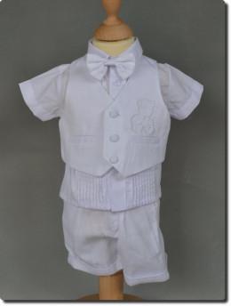 Tenue pour baptême bébé garçon blanc LUCAS