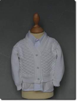 cardigan, gilet pour tenue de baptême bébé garçon