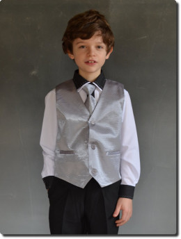 Boléro de cérémonie garçon gris