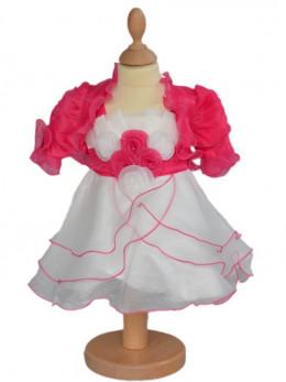 Robe de cérémonie rose bébé fille JUANITA