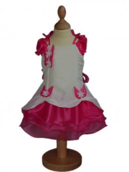Robe de cérémonie bébé fille fuchsia NINON