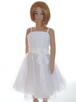Robe cérémonie fille blanche enfant ESTELLE