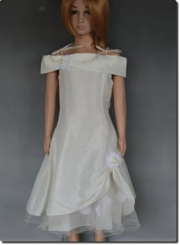 Robe de cérémonie fille pétales ivoire MARIE