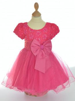 Robe de cérémonie bébé fille fuchsia mariage EMMA