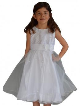 dbba6f679d555 Robe cérémonie fille blanche pour enfant ISAIE
