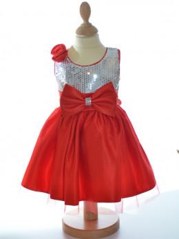 Robe rouge de mariage pour fille à petit prix