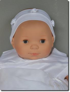 Bandeau blanc bébé cérémonie fleurs