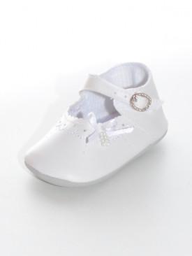 Chaussure blanche fille pour baptême