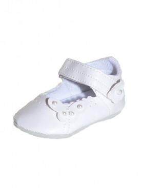 chaussure de bapteme blanche bébé fille