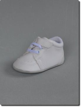 Chaussure blanche de baptême bébé garçon à strach