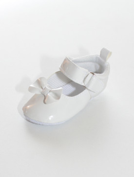 Chaussure blanche souple pour cérémonie fille