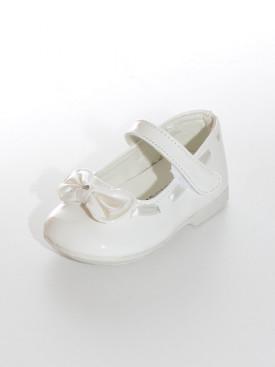 Nous vous proposons une paire de ballerine couleur blanc cassé, pour baptême, communion ou tout autre occasion. Tailles disponibles du 24 au 35. PROMO EXCEPTIONELLE UNIQUEMENT SUR LES POINTURES 30/31/32