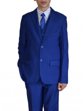 Costume enfant bleu royal GABIN