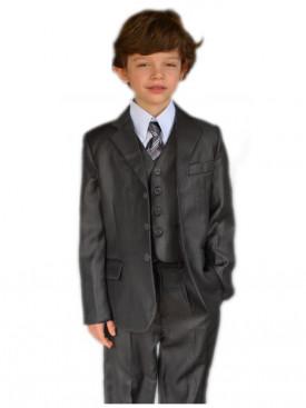 d6b2738cf0225 Costume garçon mariage gris 5 pièces VINCENT