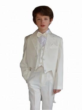 Costume garçon queue de pie ivoire, tenue de baptême queu de pie, vêtement de cérémonie garçon