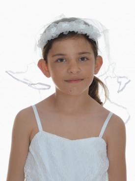 Couronne blanche pour cérémonie enfants