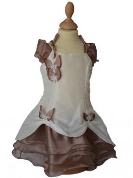 Robe ceremonie fille ivoire choco PAULINE