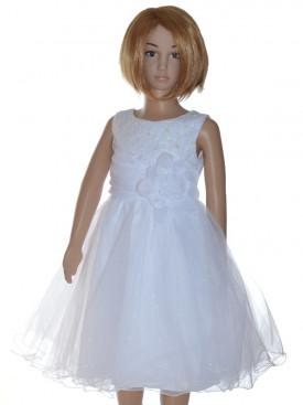 79b457de25d5b Robe de cérémonie fille blanche LUCIE