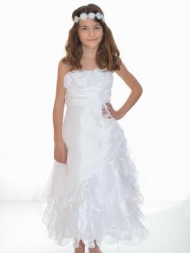 Robe de cérémonie blanche fille CANDICE