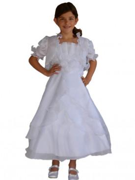 Robe de communion blanche fille LOLA JUNIOR, petit prix