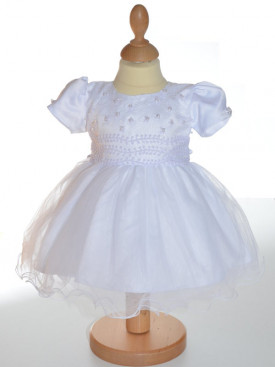 robe baptême blanche mélinda