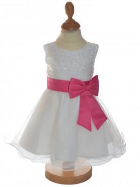 robe bébé cérémonie rose CENDRILLON