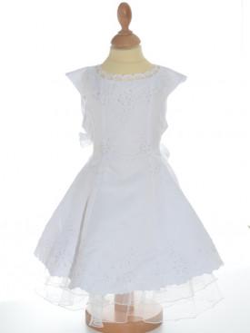 Robe longue de baptême blanche Fabiola, bon marché