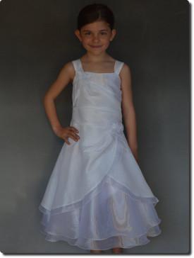 Robe pour communion fille blanche AMBRE de fabrication française