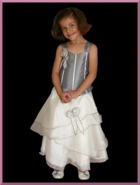 670e5f8a5f455 Robe demoiselle d honneur pour enfants - Couleur Gris