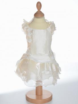 Robe volants petite fille couleur ivoire pour cérémonie, vêtement de baptême, vêtement pour mariage petite fille, MONA