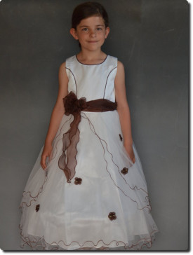 Robe de cérémonie fille tulle, organza, pour mariage