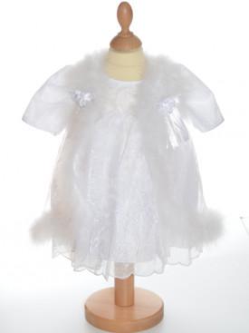 Robe longue pour baptême, tenue de baptême avec cape chaude à petit prix