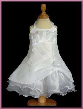 Robe pour baptême blanche ILONA, robe longue légére pour cérmonie enfants, vente en ligne: BOUTIQUE MAXMODE.