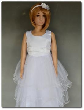 Robe de princesse longue blanche pour communion LYS