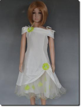 742bd06fa7852 Robe demoiselle d honneur pour enfants - Couleur Vert Anis