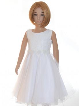 Robe pour cérémonie fille blanche Salomé