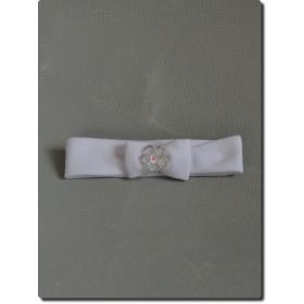 Bandeau Blanc et argent cérémonie bébé