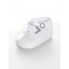 Chaussure blanche fille pour baptême LILOU
