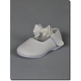 Chaussure fille blanche noeud cérémonie