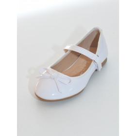 Ballerine blanche pour cérémonie enfants SALOMÉ