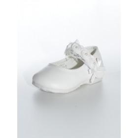Chaussure bébe fille cérémonie couleur blanche